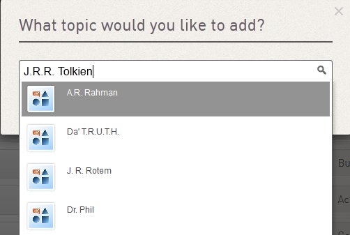 Add topic on Klout: J.R.R. Tolkien