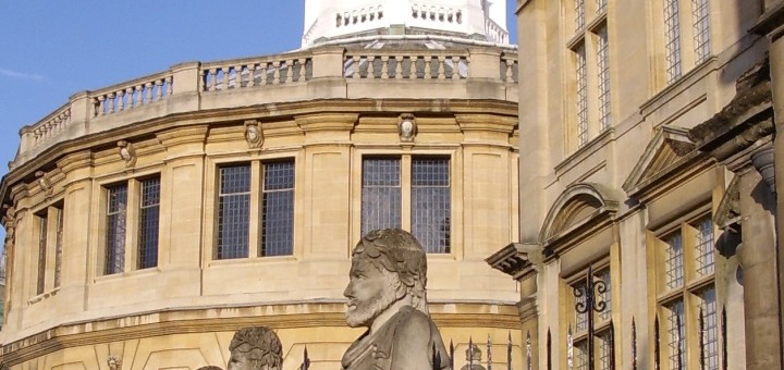 Sheldonian Theatre and entrance to Museum of the History of Science, Oxford