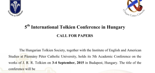 5th Tolkien Conference, Budapest, Hungary, 2015. Call for Papers