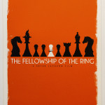 Tolkien Minimalist Posters: Patrick. Connan. The Fellowship of the Ring (c), 2nd version